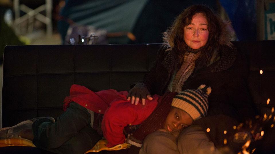 Die Hauptdarsteller Christine und der kleine Junge