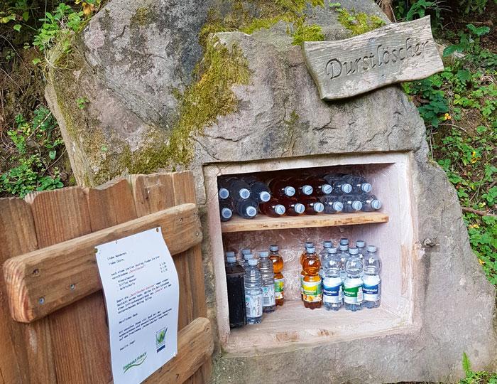 Durstlöscher für unterwegs auf dem Vesperweg