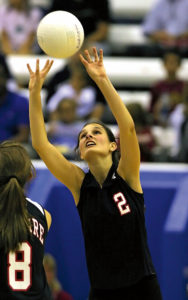 Frau volleyball